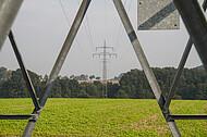 Strommast im Ausschnitt