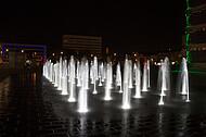 Springbrunnen Kesselbrink bei Nacht