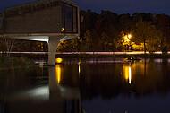 Sennestadthochhaus bei Nacht