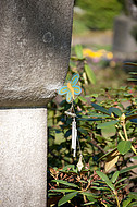 Grabstein mit Schmetterling