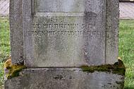 Alter Grabstein mit Inschrift