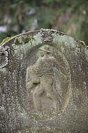 Relief säender Bauer