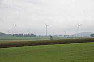 Windräderreihe